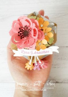 Tutorial: Hexagon-Box with Lid   with Stampin' Up! & nadinehoessrich.de