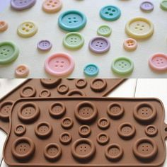 1X DIY Button Shaped Chocolate Fondant Mold Silicone Mould Cake Decor Tool Cute -- BuyinCoins.com