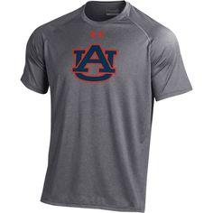the best attitude 55666 151a9 Under Armour Mens Auburn Tigers Grey Tech Performance T-Shirt, Size  Medium Tech