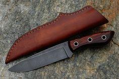 Roman Blaha Total length of knife 27.5 cm. The blade-length 15cm, width 3.7 cm, thickness 5mm. Handle-cocobolo