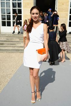 Olga Kurylenko - DIOR - Womenswear Spring/Summer 2014 / September 2013, Paris France