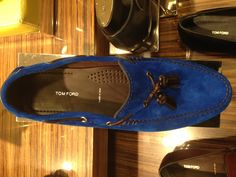 Tom Ford blue suede for men