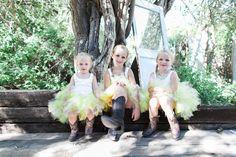#Tutu #FlowerGirls #Yellow #CountryWedding #CutestFlowerGirls #WhimsicalLightPhotography