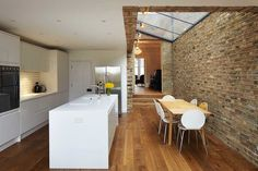 Extension and renovation to a Victorian terrace Kitchen Extension Terraced House, House Extension Design, Kitchen Diner Extension, House Design, Extension Ideas, Side Extension, Kitchen Extension Victorian Terrace, Victorian House Interiors, Victorian Terrace House