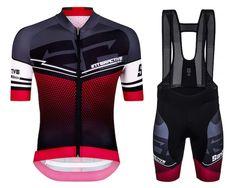 2016 Santini Interactive 3.0 Black-Red Cycling Jersey And Bib Shorts Set