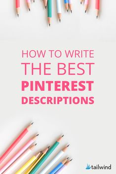 How to Write the Best Pinterest Descriptions. Tailwind shares what to include, how to use hashtags, how to do keyword research, and how long they should be. Save this one for later and be sure to sign up for the free Pinterest toolkit. #pinterestmarketing #tailwind Business Tips, Online Business, Creative Business, How To Use Hashtags, Marketing Strategies, Marketing Tools, Media Marketing, Digital Marketing, Make Blog