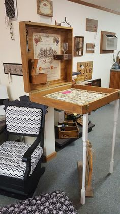 ... Elizabeth City, NC. Interesting Fold Up Table That Attaches To The Wall  At Funked Up Junk