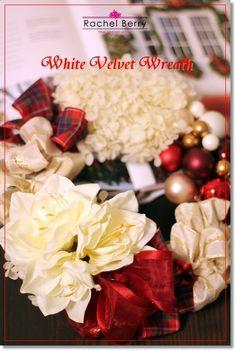 ホワイトバージョンデビュー!White Velvet Wreath?!  Rachel Berry 東横線・目黒線 横浜 日吉のプリザーブド&アーティフィシャルフラワー教室&オーダー Ameba (アメーバ)