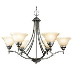 @Overstock - Setting: Indoor  Fixture finish: Greystone  Shades: Etched marble glass http://www.overstock.com/Home-Garden/Woodbridge-Lighting-Anson-6-light-Greystone-Chandelier/6265196/product.html?CID=214117 $259.99