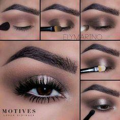 Gorgeous Makeup: Tips and Tricks With Eye Makeup and Eyeshadow – Makeup Design Ideas Eye Makeup Steps, Smokey Eye Makeup, Eyeshadow Makeup, Makeup Cosmetics, Eyeliner, Eyeshadows, Cute Makeup, Gorgeous Makeup, Pretty Makeup