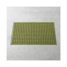 "Thirsty Dots™ Green 34""x22"" Doormat"