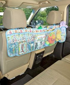 Clear the clutter from your car or minivan with help from this Multi-Pocket Backseat Organizer. This organization center includes 6 mesh pockets and 2 fabric po Organization Ideas Organizer Auto, Backseat Car Organizer, Car Organizers, Auto Camping, Road Trip With Kids, Travel With Kids, Family Road Trips, T6 California, Car Accessories Diy