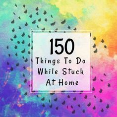 150 Things To Do While Stuck At Home Virtual Field Trips, Drawing Lessons, Science Lessons, Audio Books, Things To Do, Teaching, Occupational Therapy, Favorite Things, Dreams