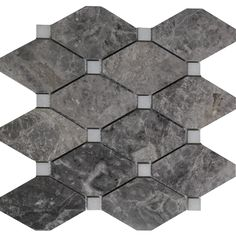 Boliche mosaic dark grey marble polished wall floor tile kitchen backsplash bathroom wall floor luxury stone