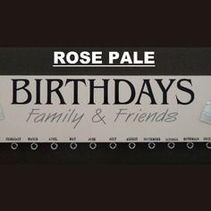 """Calendrier perpétuel des anniversaires à personnaliser """"rose pâle"""""""