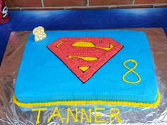 Tanners superman cake