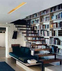 9 ruang baca bawah tangga elegan