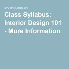 Introduction To Interior Design   Course Syllabus At Ed2go | Interior Design  | Pinterest