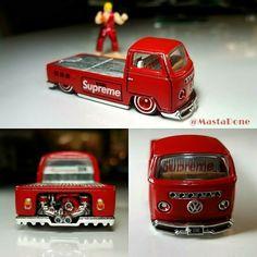 Custom Hot Wheels, Hot Wheels Cars, Hot Cars, Custom Cars, Ford Trucks, Tow Truck, Miniatur Motor, Vw Pickup, Supreme Logo