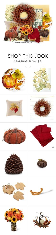 """""""Thanksgiving Decor"""" by ysmn-pan ❤ liked on Polyvore featuring interior, interiors, interior design, home, home decor, interior decorating, Sur La Table, Kate Aspen, Imm Living and Cost Plus World Market"""
