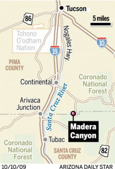 Magnificent Madera Canyon Is South Of Tucson.