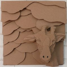 Cardboard Relief - Giraffes Are Incredibly Violent Animals by Kyl McMorris