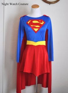 Supergirl costume girls size 4T10 Classic by NightWatchCouture