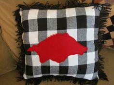 Razorback throw pillow