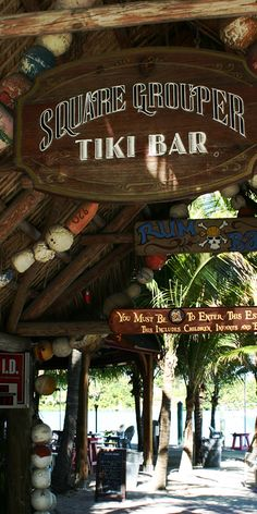 SQUARE GROUPER TIKI BAR - Is a Jupiter Florida waterfront bar and restaurant. It is a local hang out with an amazing view. Great for lunch or sunset but don't go Fri at 5pm unless u want a noisy band & crowd. http://squaregrouper.net  #squaregrouper #jupiterfl #jupiterflorida