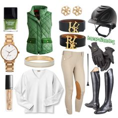 """Green and Gold"" by bacardiandeq on Polyvore would be better if it was green and silver"