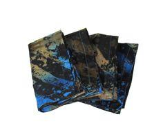 "4 African Print napkins, 18"" square"