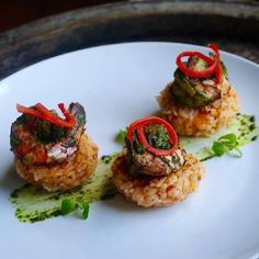 #ECOHOTELS #ORGANIC #SWD #GREEN2STAY Desa Seni  Shrimp risotto cakes! Great appetizer for the holidays! #cook #organic #appetizer #healthy #creative #canggu #bali #indonesia http://www.green2stay.com/asia-pacific-eco-hotels