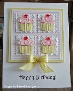 Adorable cupcake birthday card DIY inspiration