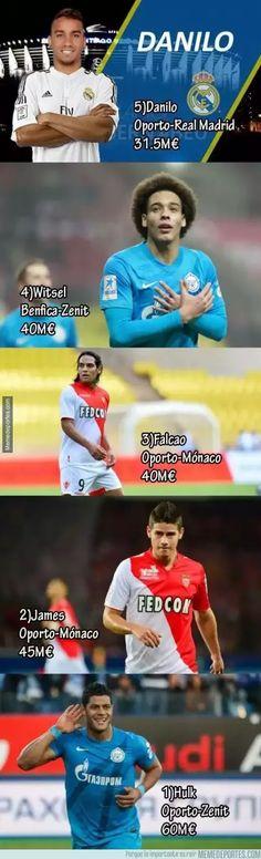 Futbol de Locura: Las 5 mejores ventas del Fútbol Portugues