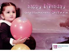 Join us in wishing this Cute Princess ‪#‎SitaraGhattamaneni‬ a Very Happy Birthday  DrushyamMedia