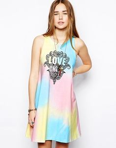 Image 1 of ASOS Swing Dress with Love Print 10