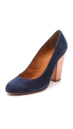 Madewell The Frankie Suede Pumps.....Love Chunky Heels.