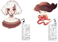 rough brushes paint tool sai - Google Search