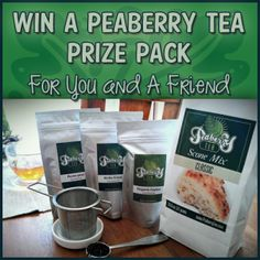 #missiongiveaway #Win a Peaberry Tea Gift Set for you and 1 for a Friend! ends 6/21 US only