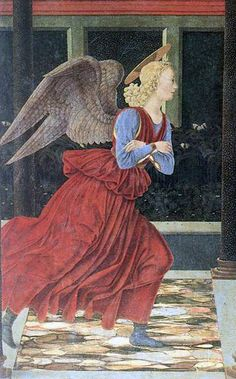 BALDOVINETTI, Anunciación (detalle), 1447, Uffizi