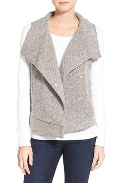 BB Dakota 'Dahlia' Rib Knit Funnel Neck Vest available at #Nordstrom