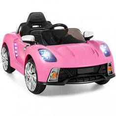 Best Choice Products Kids Battery Ed Remote Control Electric Rc Ride On Car W And Aux Pink