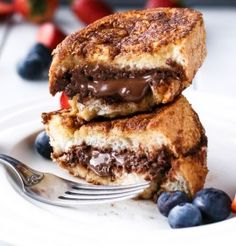 Nutella Stuffed Churro French Toast