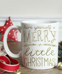 Look at this Gold Script 'Merry Little Christmas' Mug on #zulily today!