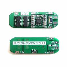 11.Batería del lipo de 1v 12v 12.6v 18650 10A Tabla de protección para 3S Seiko protección ic