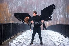 Black Angel Wings, Black Angels, Lucifer Wings, Winter Jackets, Color, Dark Angels, Winter Coats, Winter Vest Outfits, Colour