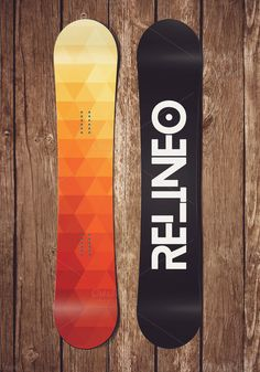 Snowboard Mock-up by relineo on @creativemarket