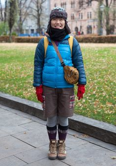 "Sachiko, 33    ""I like to wear skirts and the colour brown. I don't care about brands.  All my clothes are from Japan, where I live.""  30 October 2012, Esplanadi"