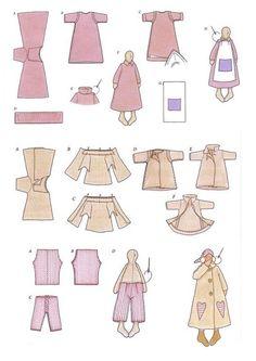 Mimin Dolls: Tilda sonolenta- tutorial pijama
