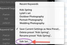 Get Organized | keywording tips for lightroom by Lynne Rigby